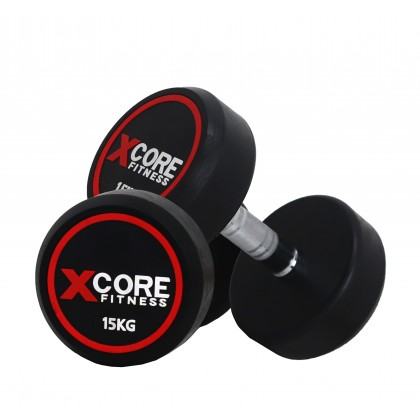 XCORE Fitness Rubberized Fixed Dumbbell (2.5kg - 25kg)