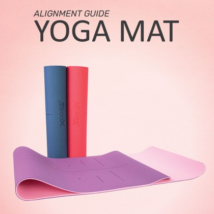 TPE Yoga Mat with Alignment Guide